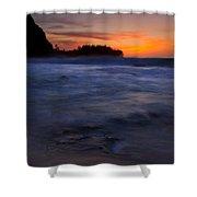 Tunnels Beach Dusk Shower Curtain by Mike  Dawson