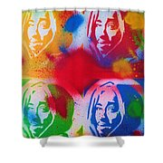 Tupac V Warhol Shower Curtain