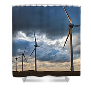 Turbines Shower Curtain
