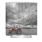 Turbo Tractor Superman Country Evening Skies Shower Curtain