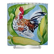 Turbo With Corn Shower Curtain