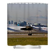 Turboprop Aircraft Shower Curtain
