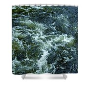 Turbulance At Loch Ness Shower Curtain