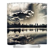 Turbulent Afternoon Shower Curtain