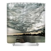 Turbulent Airflow Shower Curtain