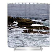 Waves Crashing Into La Jolla Shores Shower Curtain