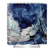 Turbulent Sea Shower Curtain