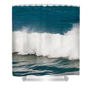 Turbulent Water Of Breaking Ocean Wave And Spray Shower Curtain