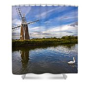 Turf Fen Drainage Mill Shower Curtain