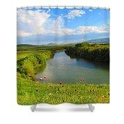 Turkey Countryside Shower Curtain