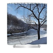 Turkey River Shower Curtain