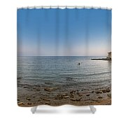 Turkey Side Panorama Shower Curtain by Antony McAulay