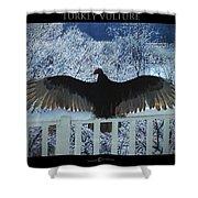Turkey Vulture Sunning Shower Curtain