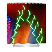 Turmoil On The Green Planet Shower Curtain