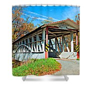 Turner's Covered Bridge Shower Curtain