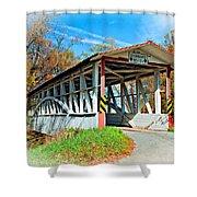 Turner's Covered Bridge Vignette Shower Curtain