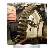 Turning Gear Engine Room Queen Mary 02 Shower Curtain