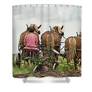Turning The Earth Shower Curtain