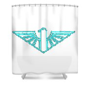 Turqoise Thunderbird 1 Shower Curtain