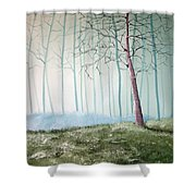 Turqouise Mist Shower Curtain