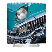 Turquoise 1956 Belair Shower Curtain