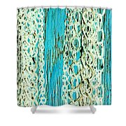 Turquoise Chained Shower Curtain