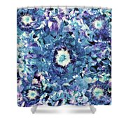 Turquoise Cloud Shower Curtain