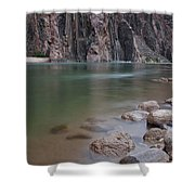 Turquoise Colorado River Shower Curtain