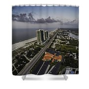 Turquoise Place At Dawn Shower Curtain