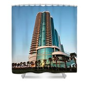 Turquoise Place Rising Shower Curtain