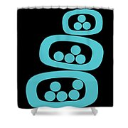 Turquoise Pods Shower Curtain