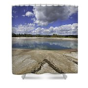 Turquoise Pool In Yellowstone National Park Shower Curtain