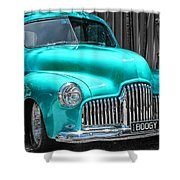 Turquoise Power  Shower Curtain