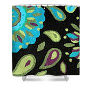 Tapestry Turquoise Rug Shower Curtain
