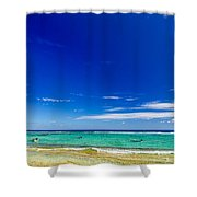 Turquoise Sea And Blue Sky Shower Curtain