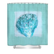 Turquoise Seashells Vii Shower Curtain by Lourry Legarde