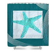 Turquoise Seashells Xvi Shower Curtain
