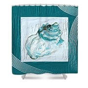 Turquoise Seashells Xxiv Shower Curtain