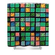 Turquoise Sudoku Shower Curtain