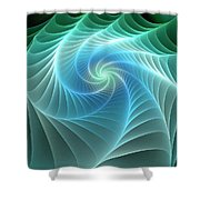 Turquoise Web Shower Curtain