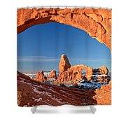 Turret Arch Frame Shower Curtain