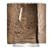 Turret Staircase Shower Curtain