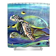 Turtle Duo Shower Curtain