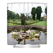 Turtle Fountian And Garden Chateau De Cormatin Shower Curtain