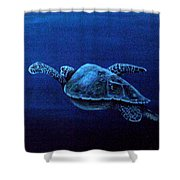 Turtle In The Red Sea Shower Curtain