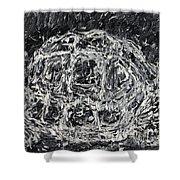 Turtle - Oil Portrait Shower Curtain