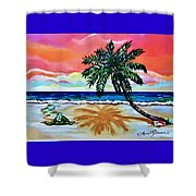 Turtle On Beach Shower Curtain