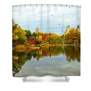 Turtle Pond 2 - Central Park - Nyc Shower Curtain