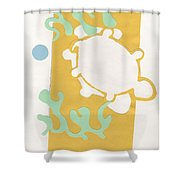 Turtle Pond Shower Curtain