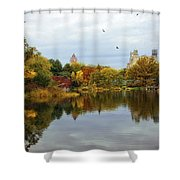 Turtle Pond - Central Park - Nyc Shower Curtain